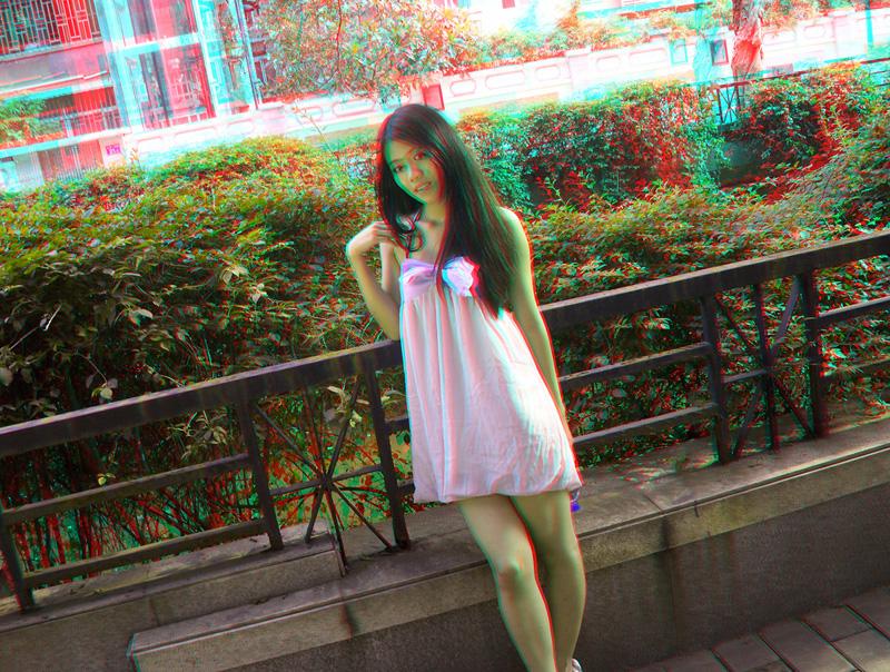 3d立体摄影让新人走出平面 最新强势推出裸眼立体婚纱照高清图片