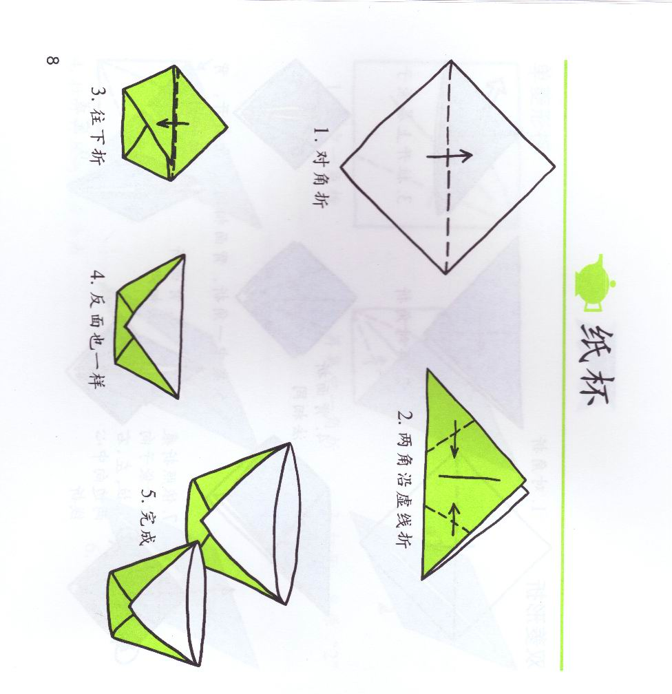 折纸步骤ai矢量图