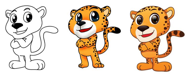 卡通吉祥物金山豹豹介绍 给你最亲爱的抱抱!
