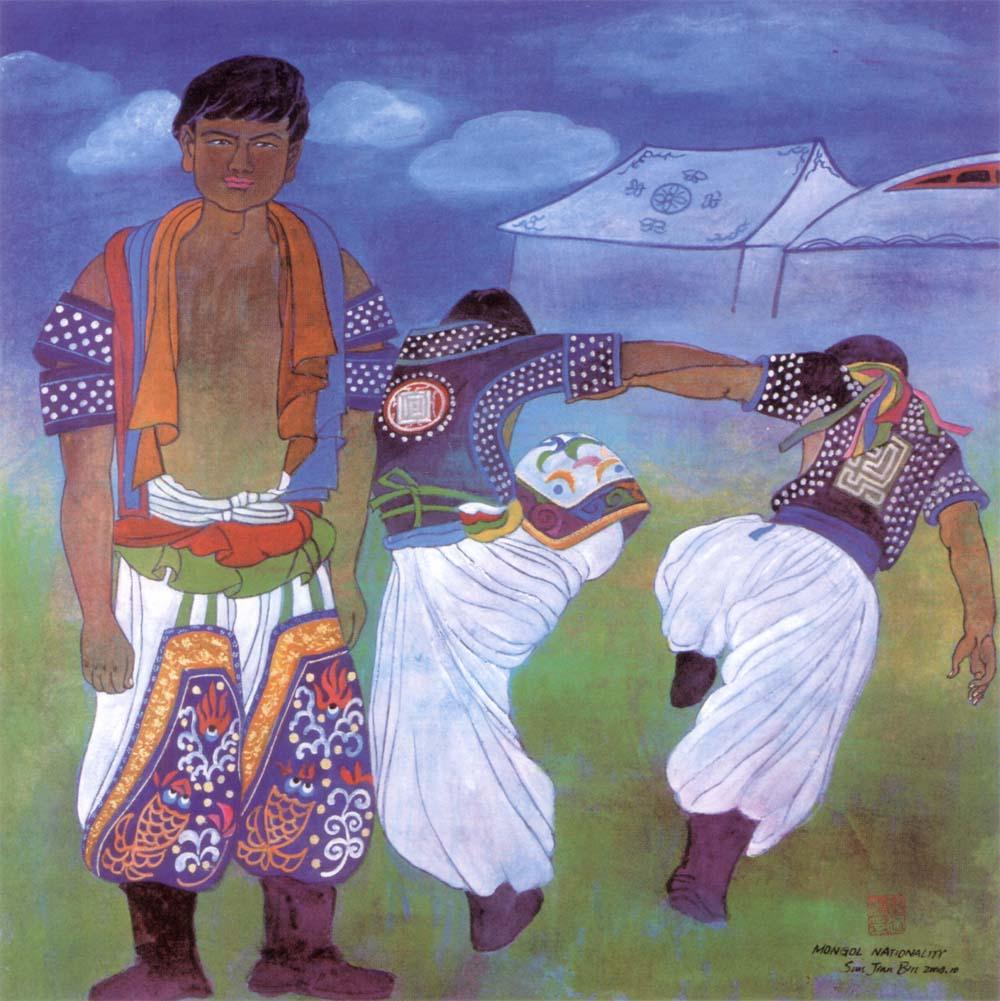 彩画五十六个民族-蒙古族.jpg
