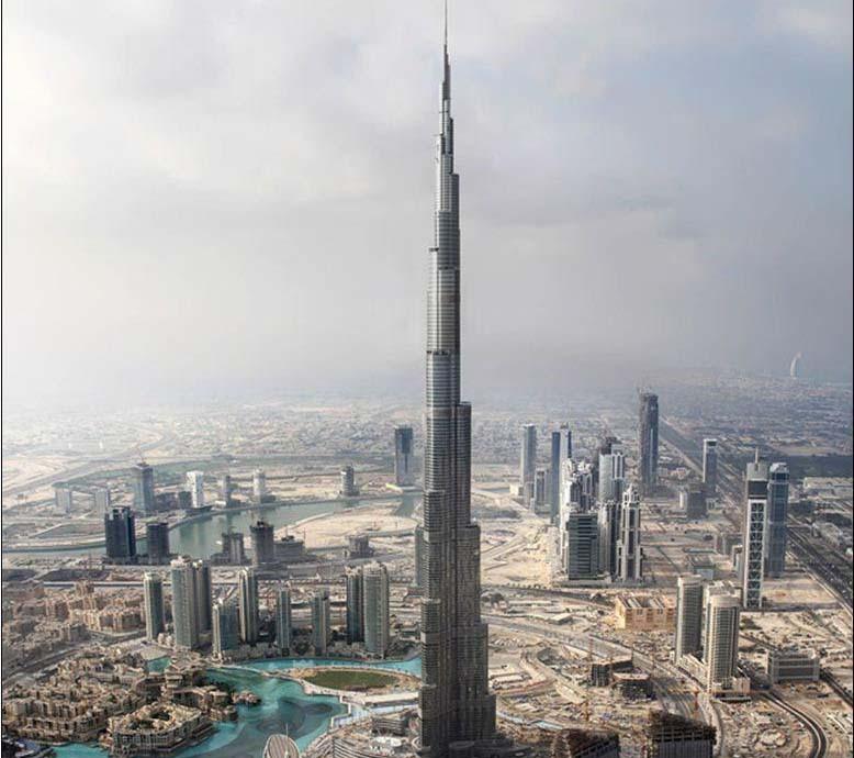世界艺术建筑奇迹-迪拜第一高塔