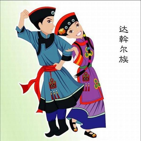 中国56个民族剪影【56p】