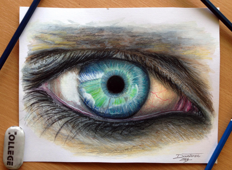 眼睛超写实绘画图片展示