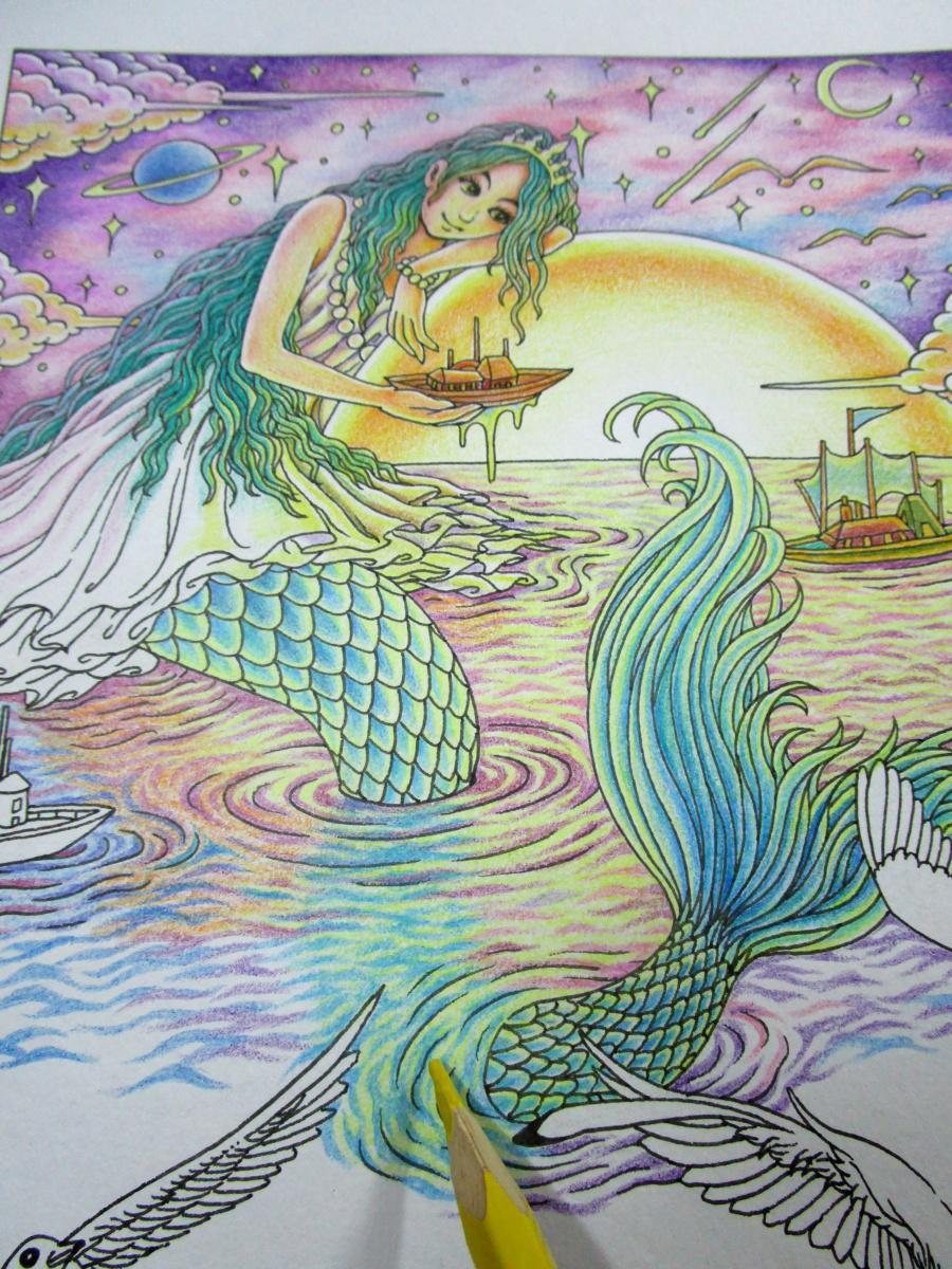 美人鱼——彩铅手绘