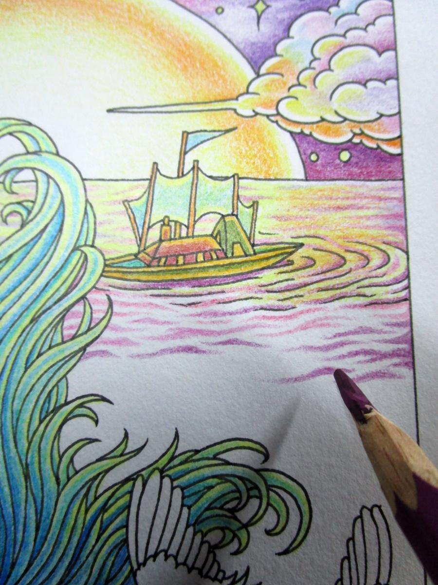 《美人鱼》彩铅手绘 过程详解 2015.01.03发帖>