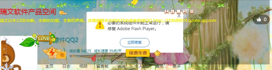 QQ空间flash问题.png